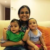 Nivedita RamGopal, twins birthday party